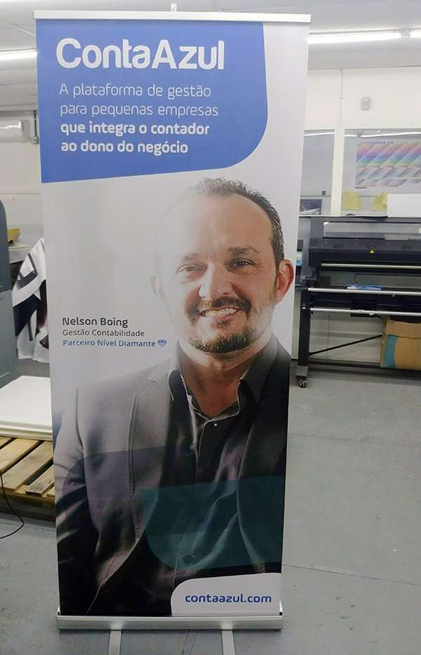 Banner roll up conta azul